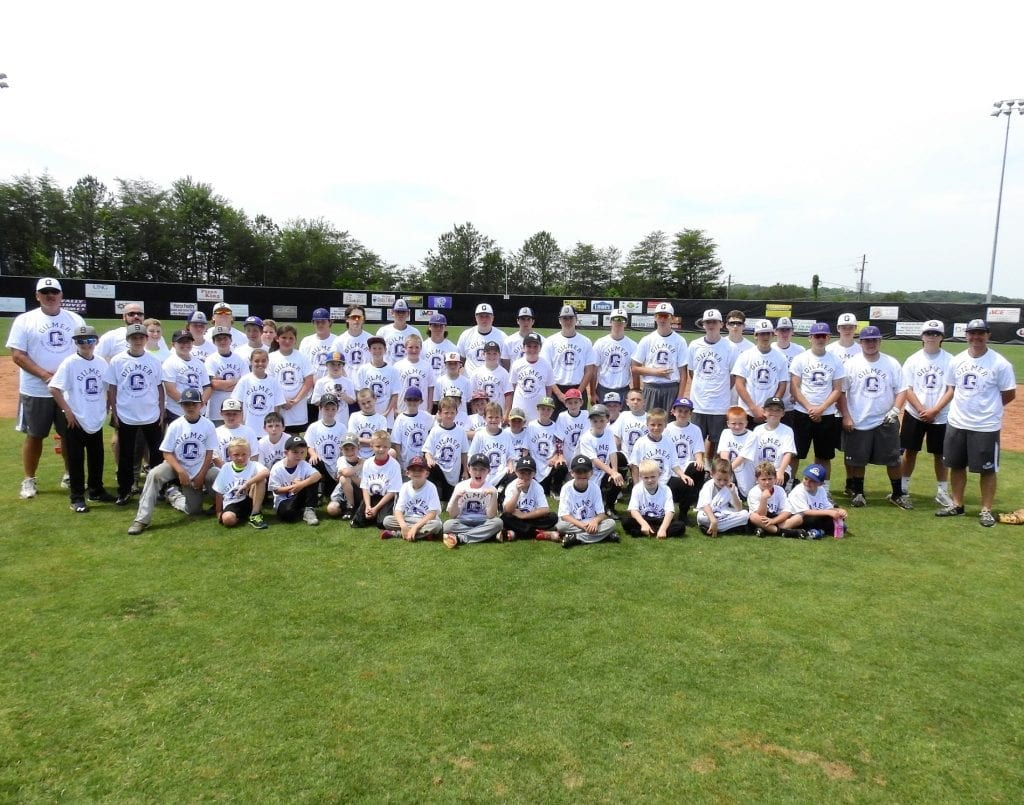Pictured are the coaches, players and campers that participated in the 2016 GHS Bobcats Youth Baseball Camp. (Photo by: Kevin Hensley)