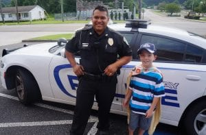 Tyler Carach, the 'Donut Boy' stopped into Ellijay just in time for July 4th to thank Ellijay's Police Officers for their service and commitment.
