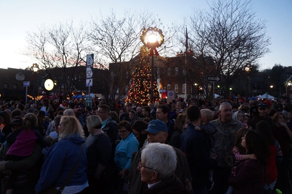 Crowds flood Downtown Ellijay for Light Up event