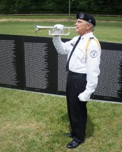 "The memorial wall will open and close its days in Ellijay with the ceremonial playing of ""Taps."""