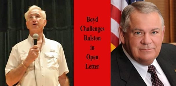 Boyd Challenges Ralston in Open Letter