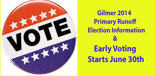 2014 Primary Runoff Election Information, Early Voting Starts June 30th
